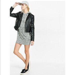 Express marled hoodie dress size xs never worn